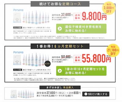 ペルソナ価格表
