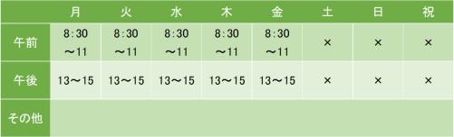 NTT東日本関東病院の診療時間