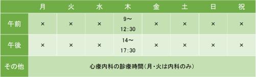 川崎ファミリーケアクリニックの診療時間