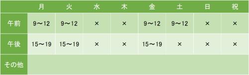 東神奈川診療所の診療時間