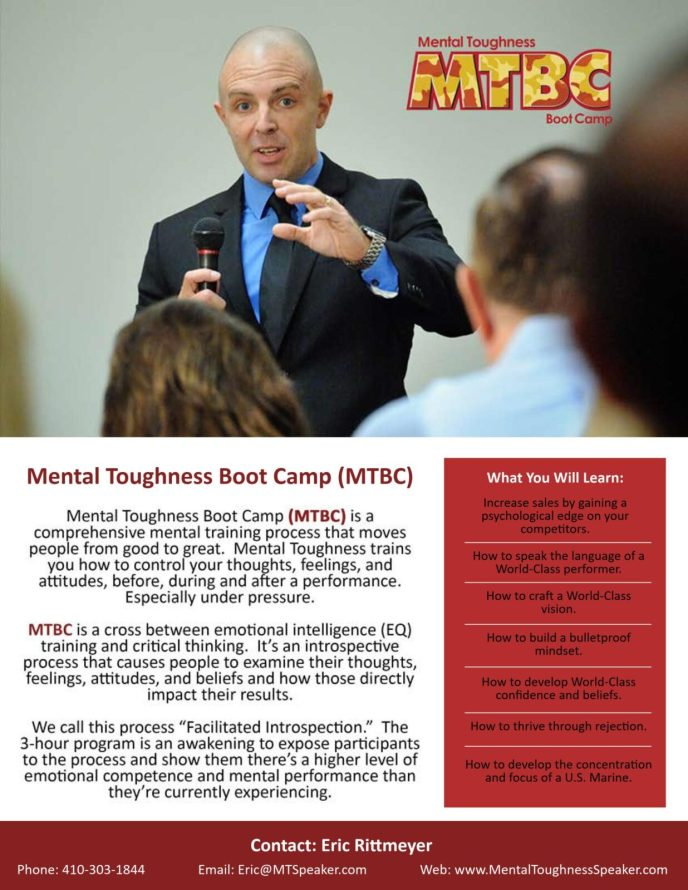 Mental toughness training for sales teams