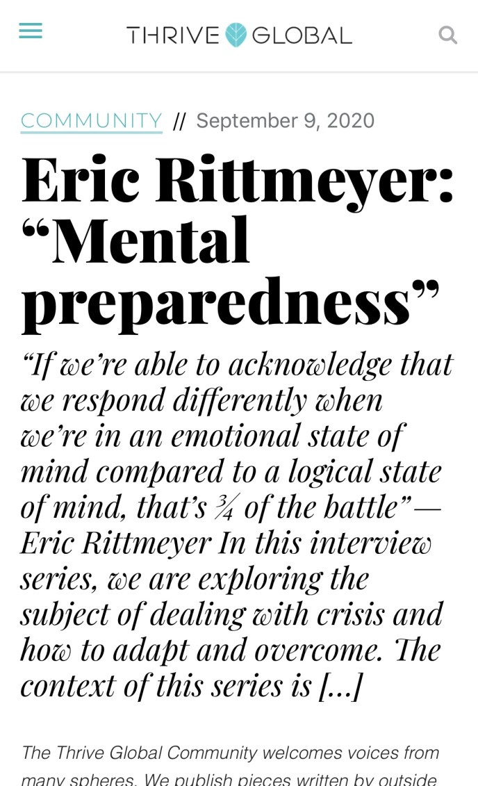 Eric Rittmeyer and mental preparedness