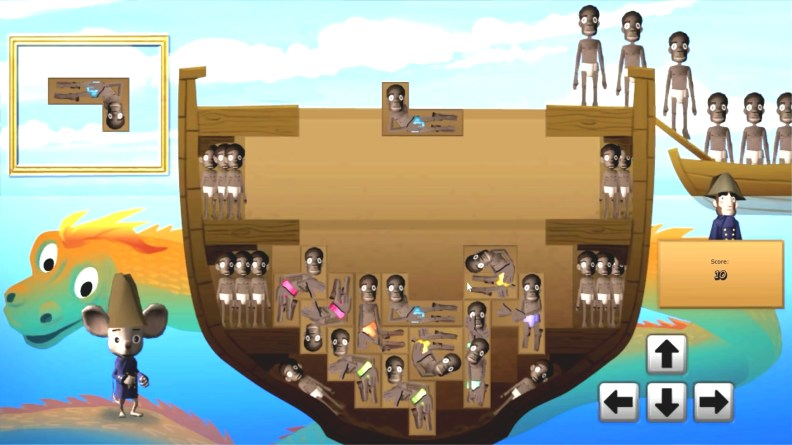 slave tetris video pulled from playing history 2 by serious games interactive