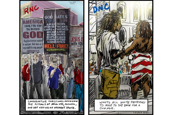 tim fielder political cartoons for democratic and republican national convention dieselfunk glog