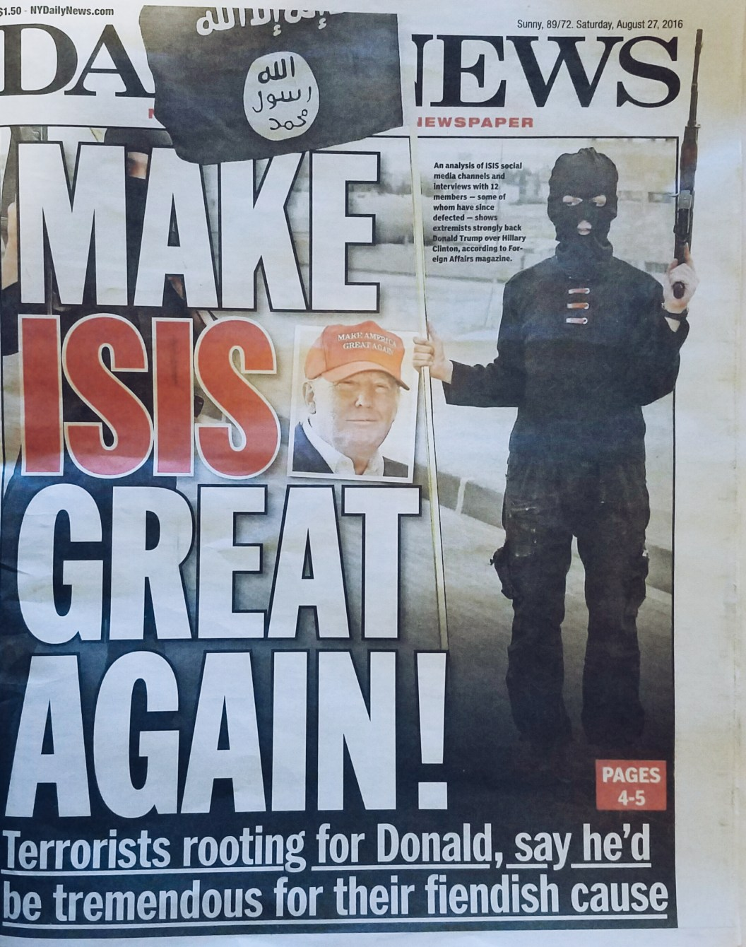 isis wants donald trump to be president