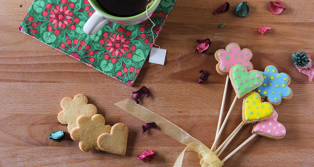 Biscotti: un bouquet per la mamma