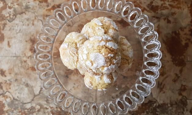 Orange and cinnamon crinkle cookies (biscotti morbidi all'arancia e cannella)