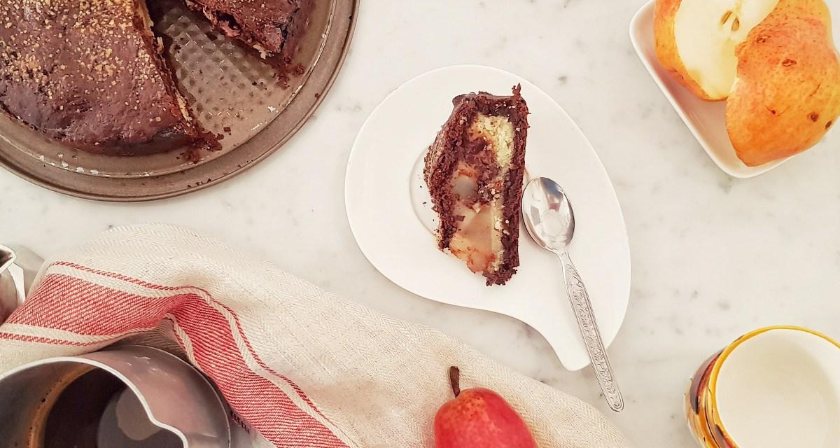 Chocolate pear almond pie (torta pere, cioccolato e mandorle)