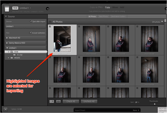 Lightroom import single image annotated