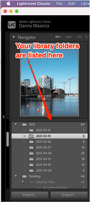 Lightroom locate library folder annotated
