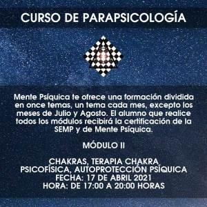 Curso de Parapsicología - Módulo II @ Mente Psíquica, entrenamiento para médiums