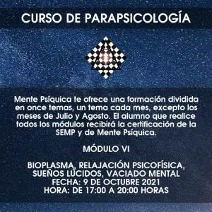 Curso de Parapsicología - Módulo VI @ Mente Psíquica, entrenamiento para médiums