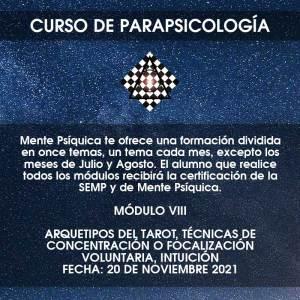 Curso de Parapsicología - Módulo VIII @ Mente Psíquica, entrenamiento para médiums