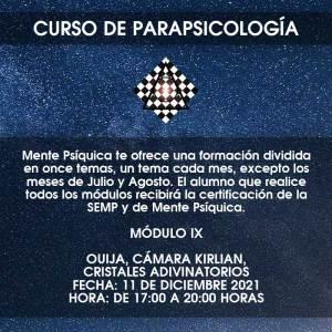 Curso de Parapsicología - Módulo IX @ Mente Psíquica, entrenamiento para médiums