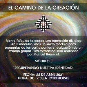 Formación El camino de la creación - Módulo II @ Mente Psíquica, entrenamiento para médiums y psíquicos