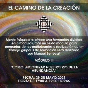 Formación El camino de la creación - Módulo III @ Mente Psíquica, entrenamiento para médiums y psíquicos