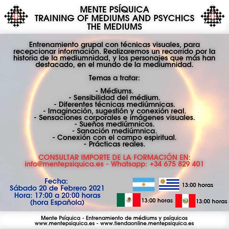 Mente Psíquica - Entrenamiento para médiums y psíquicos - Contacto: info@mentepsiquica.es - WhatsApp: +34 675 829 401