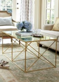 2018 Best of Glass Gold Coffee Table