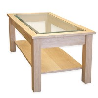 The Best Glass Top Oak Coffee Table