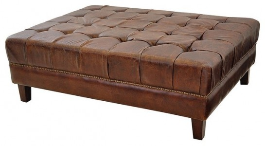 Table Coffee Padded Leather