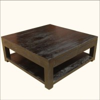 20 Ideas of Square Dark Wood Coffee Table