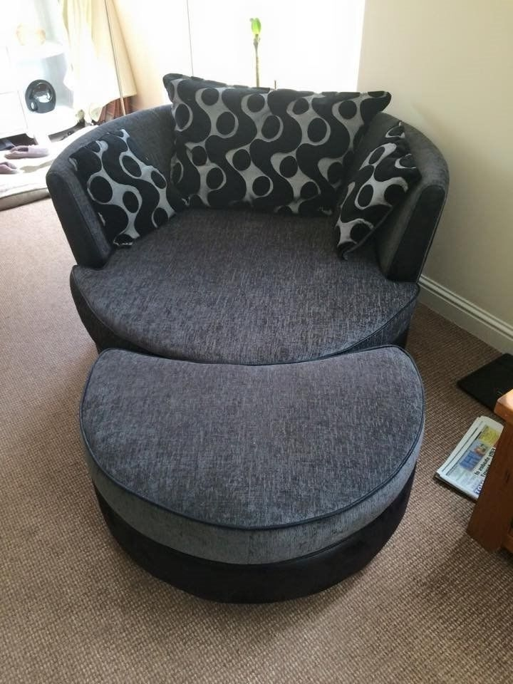 corner sofa and swivel chair christmas covers poundland 20 ideas of big round chairs