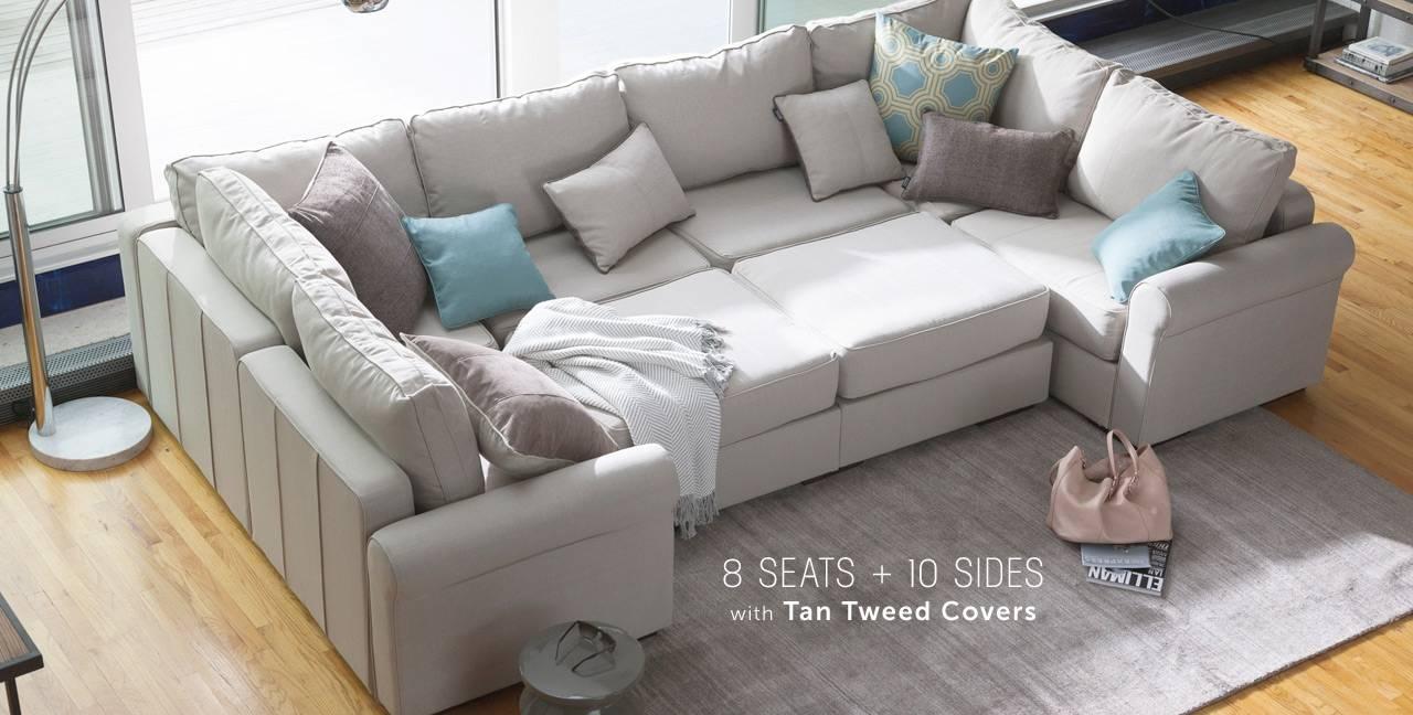 Wide Angle Sectional Sofa Centerfieldbar Com : extra wide sectional sofa - Sectionals, Sofas & Couches