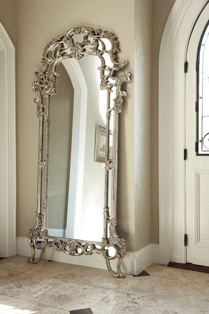 25 Best Collection of Silver Floor Standing Mirrors