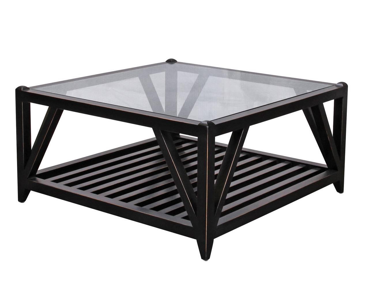 30 Photos Square Black Coffee Tables