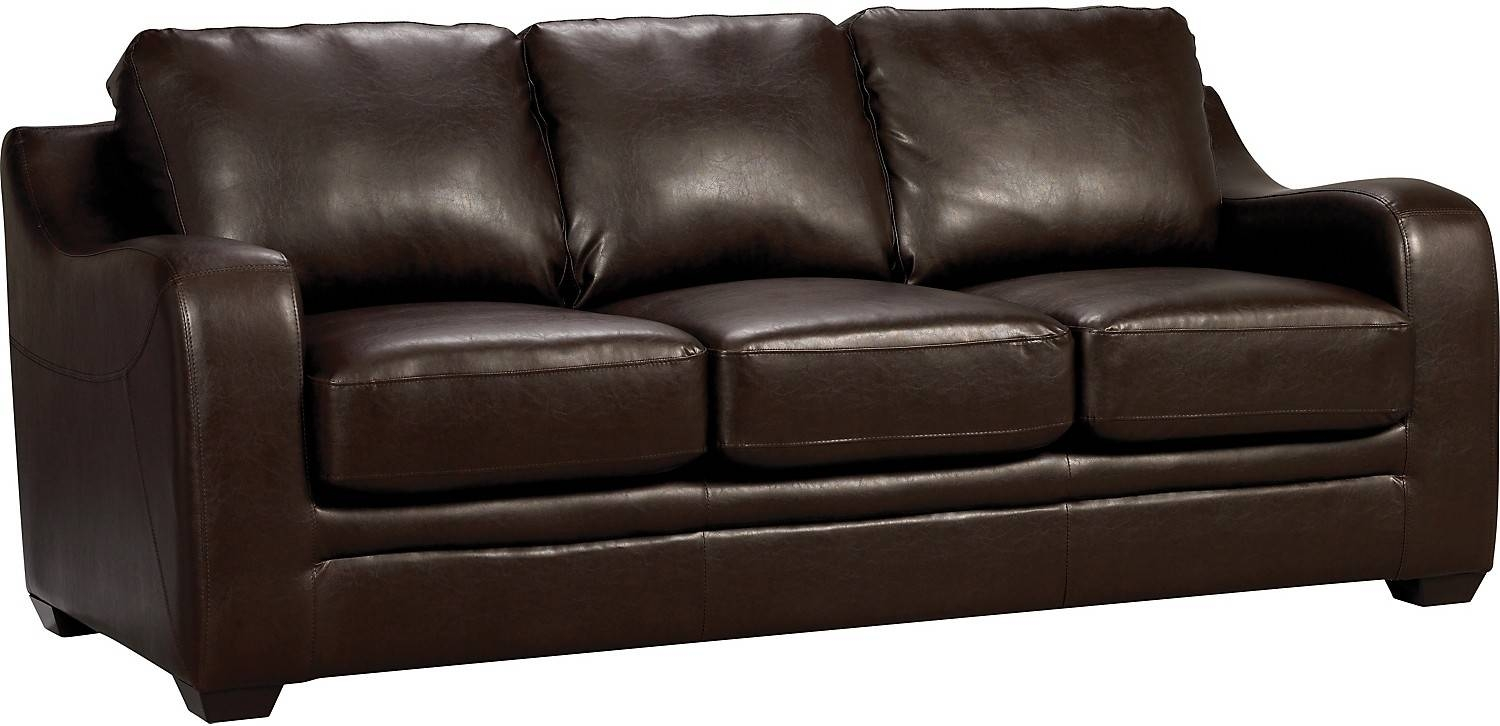 genuine leather power reclining sofa re stuffing pillow back cushions the best brick