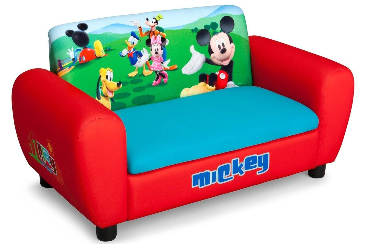 Disney Mickey Mouse Toddler Sofa Chair And Ottoman Set By Delta