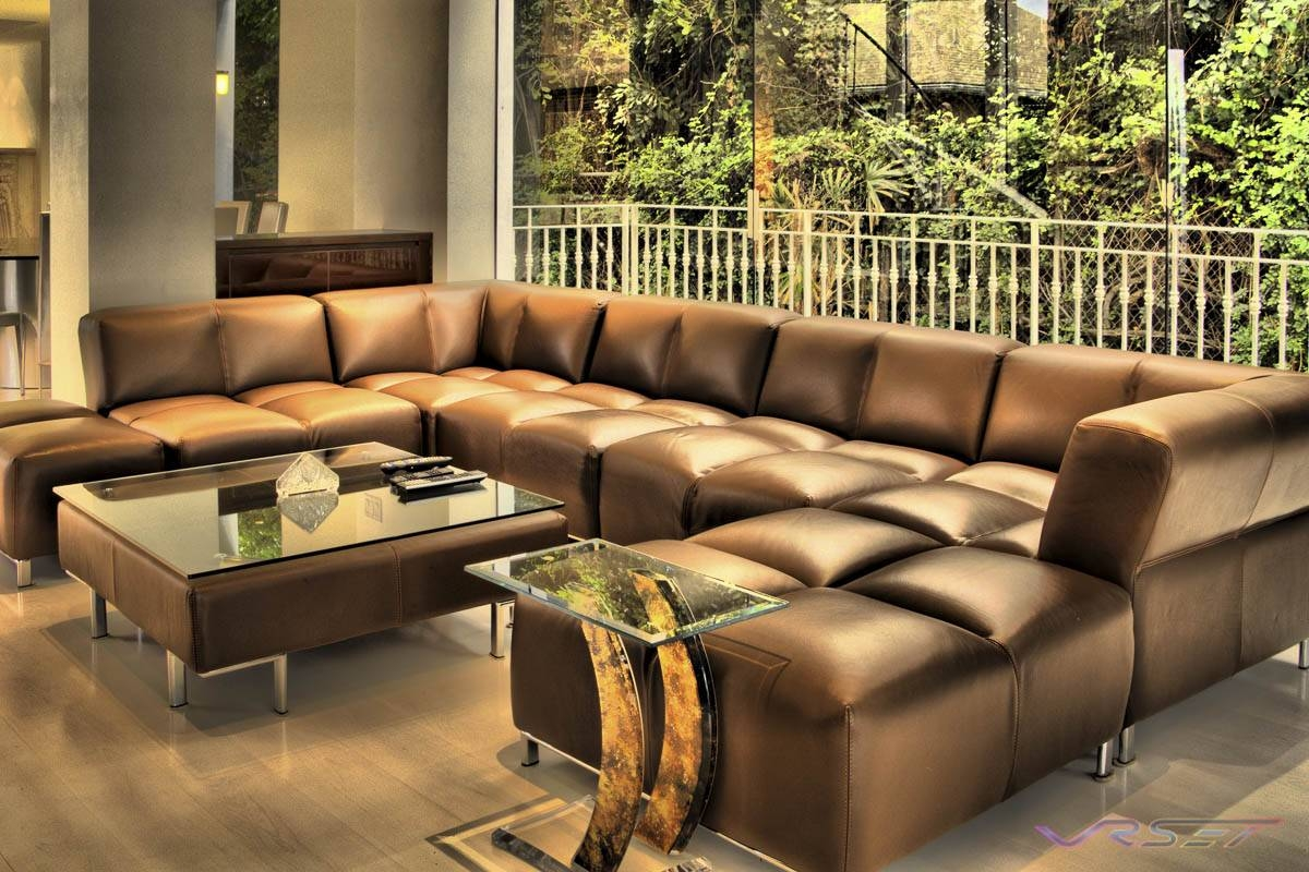 large sectional sofa in small living room nicoletti leather uk the best 7 seat