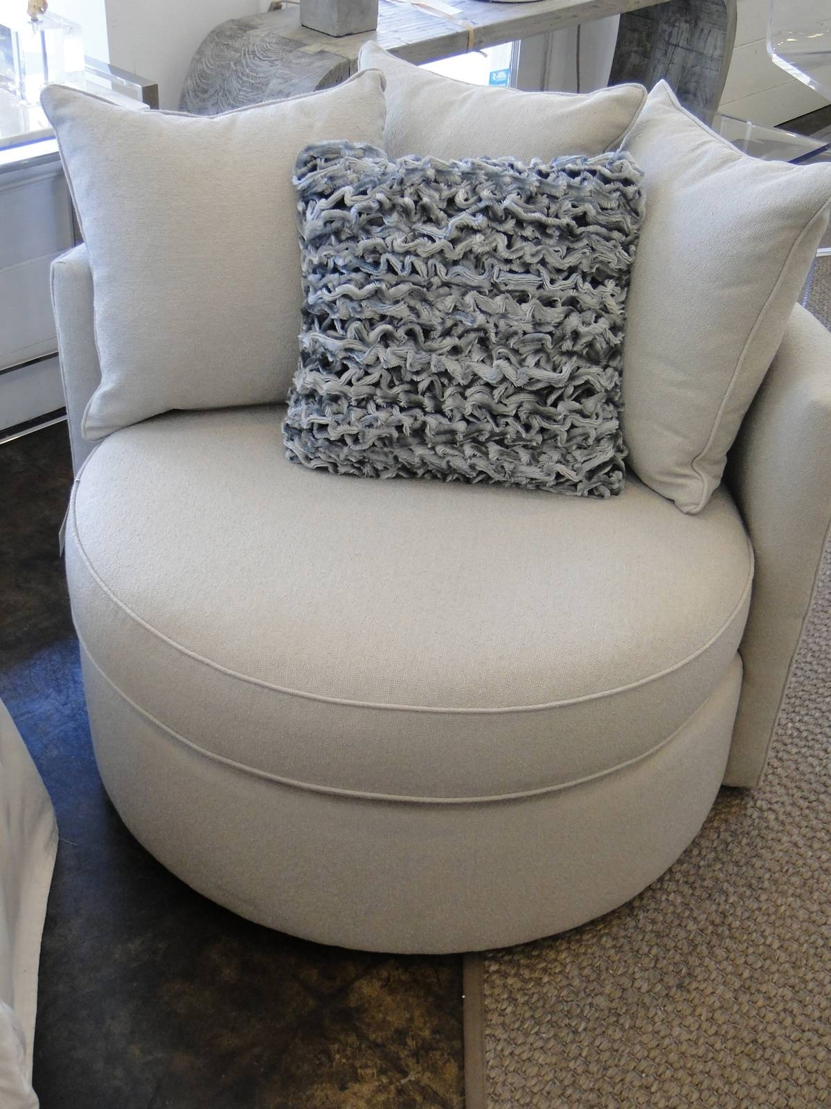 trendy inspiration round swivel chair home design