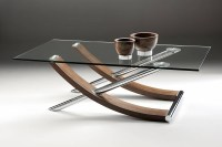 30 Best Collection of Wood Chrome Coffee Tables