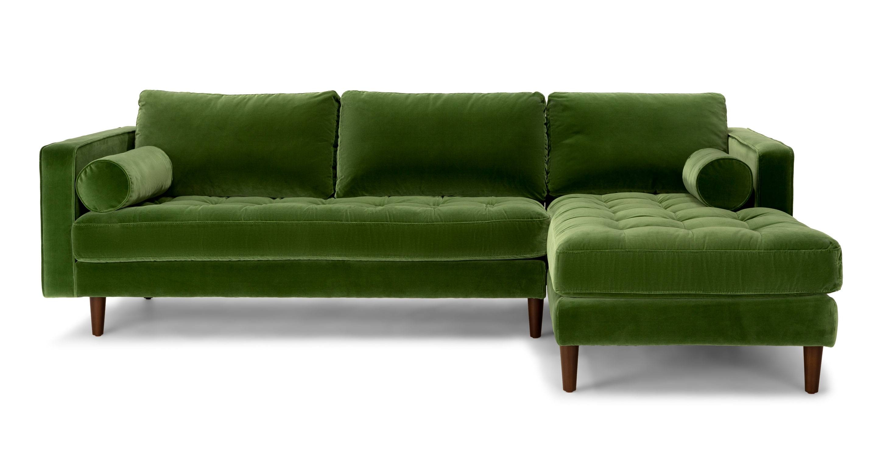 leather vs fabric sofa india taupe velvet uk inspirational waverunner modular green sectional sofas