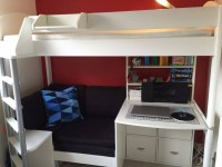 High Sleeper Bed With Desk And Sofa Elegant High Sleeper ...