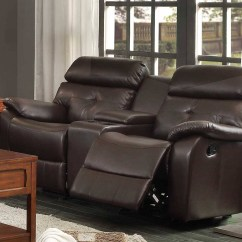 Modena 2 Seater Reclining Leather Sofa Black And Red 30 The Best Recliner Sofas