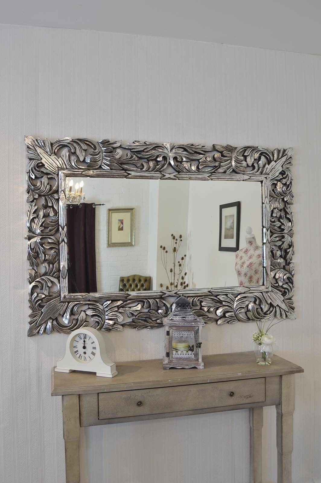 2019 Best Of Large Ornate Silver Mirrors