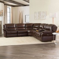 6 Piece Leather Sectional Sofa Stacey Leather 6 Piece ...
