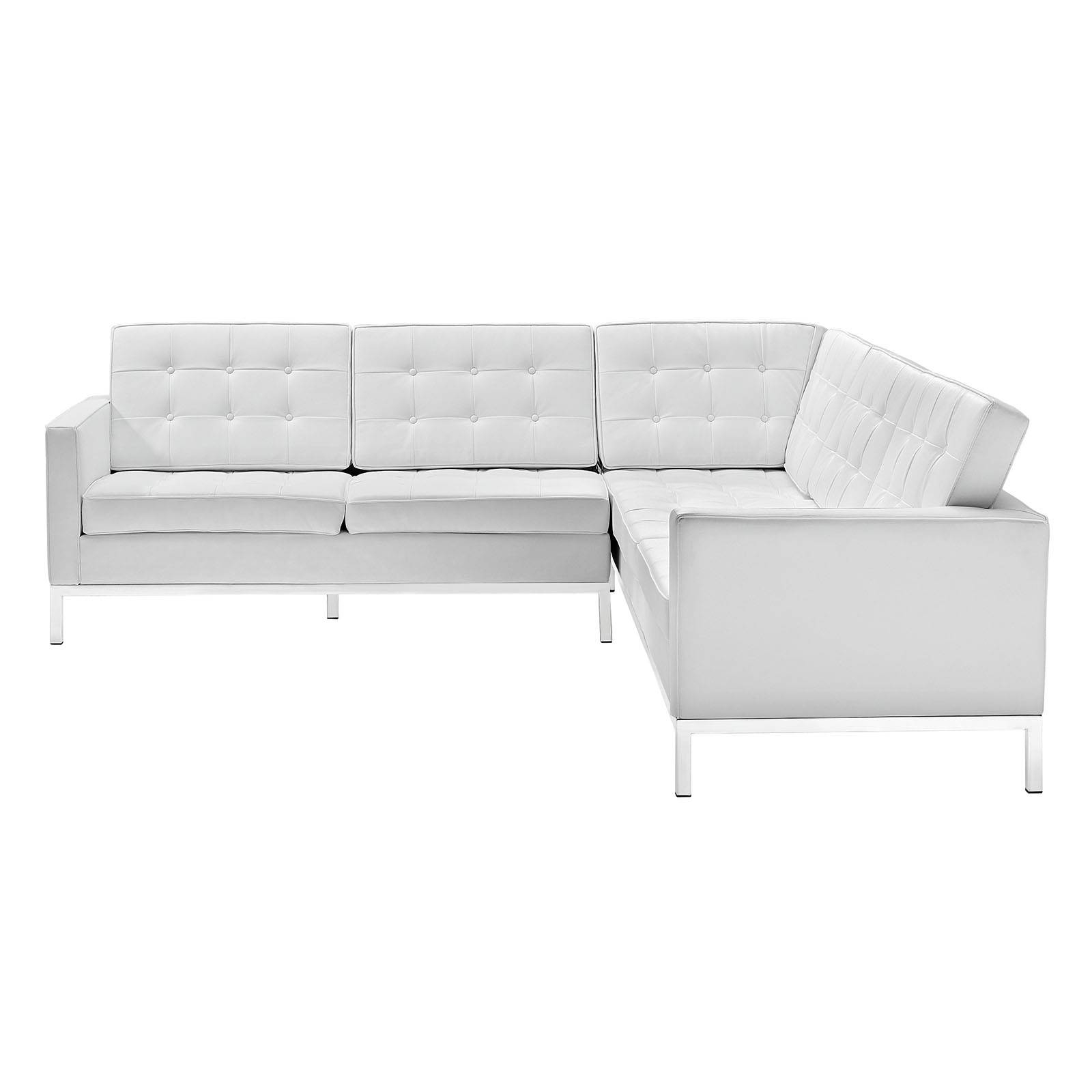 2019 Latest Leather L Shaped Sectional Sofas