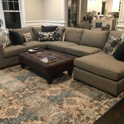 Room And Board Metro Sofa With Chaise Cowhide Sectional Modern Brokeasshome