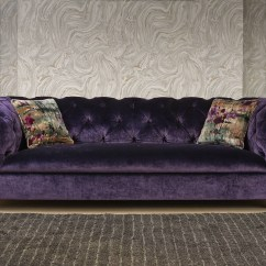 Purple Velvet Upholstered Sofa Decorate Living Room Without 30 Best Collection Of Sofas