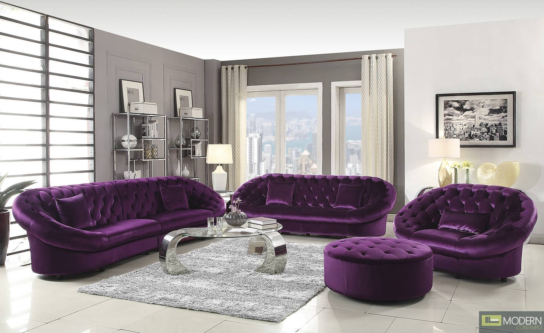 purple contemporary sofa bed los angeles ca 30 best collection of velvet sofas