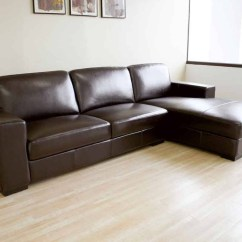 Custom Sofa San Diego Brown Microfiber And Leather Sectional With Ottoman By Acme 30 Inspirations Of