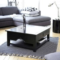 30 Photos Square Black Coffee Tables