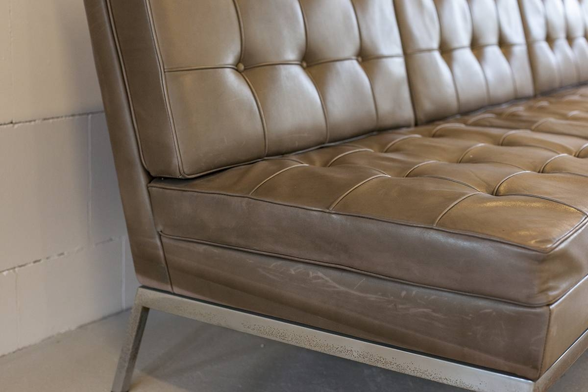 florence knoll sofa review table with ottomans underneath vintage parallel bar