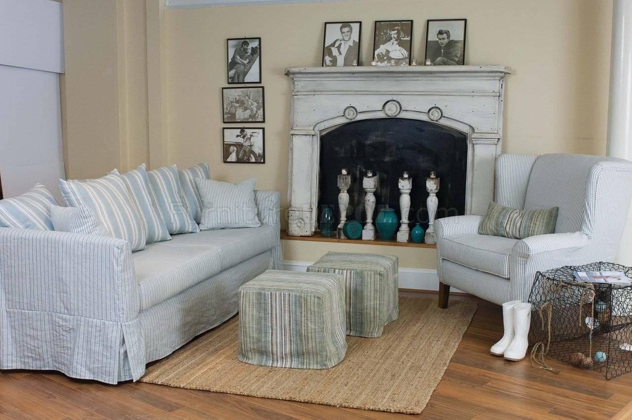 blue and white sofa fabric decoro 15 photos striped sofas
