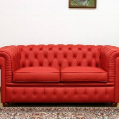 Red Leather Two Seater Sofa 1940s 15 Best Collection Of Chesterfield Sofas