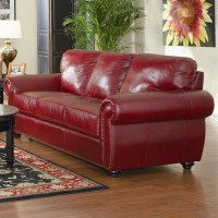 2018 Latest Burgundy Leather Sofa Sets