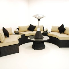 Maze Rattan Half Moon Sofa Set Grey Pottery Barn Buchanan Chaise Reviews The Best Sofas